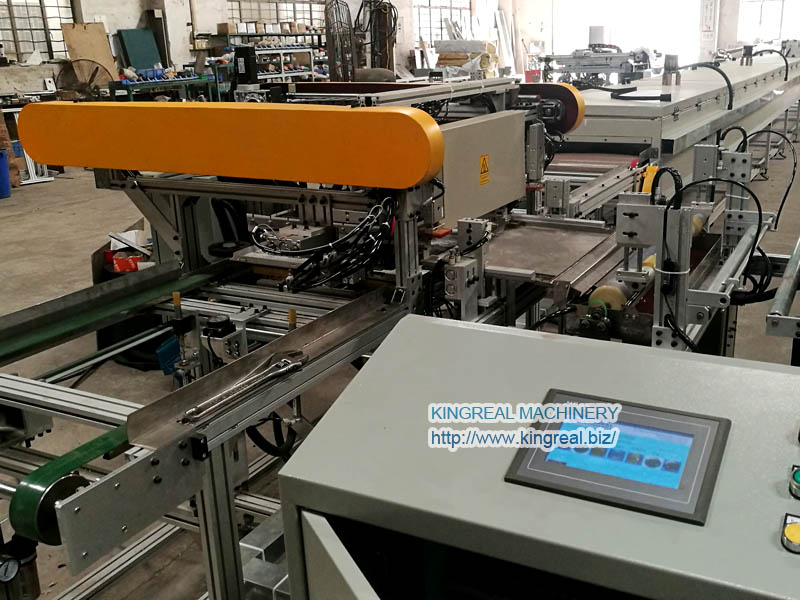 acoustic fleece gluing machine for perforated metal ceiling tile