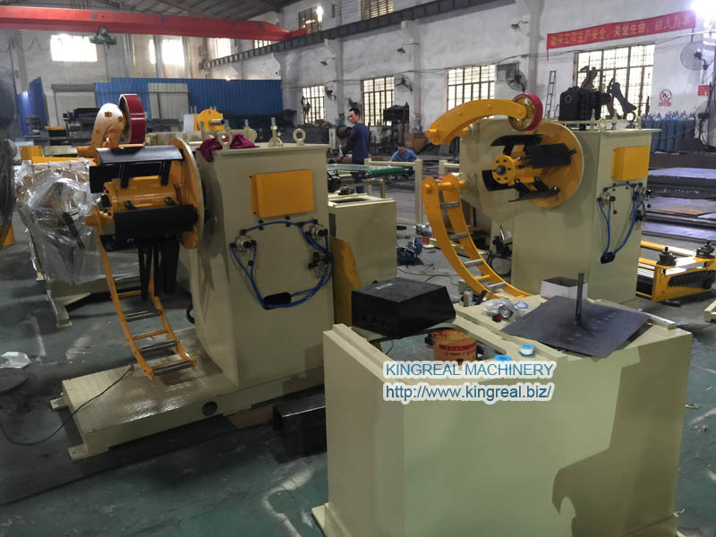 automatic steel material decoiler machine